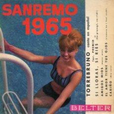 Discos de vinilo: TORREBRUNO, EP, SI LLORAS, SI RIES + 3 , AÑO 1965. Lote 42288611