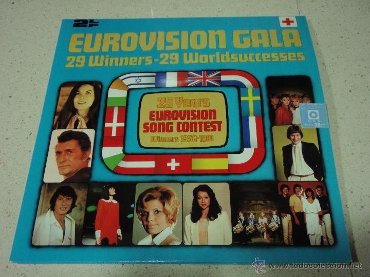 VARIOUS ?– EUROVISION GALA - 29 WINNERS - 29 WORLDSUCCESSES 2LPS NORWAY 1981 RED CROSS (Música - Discos - LP Vinilo - Festival de Eurovisión)