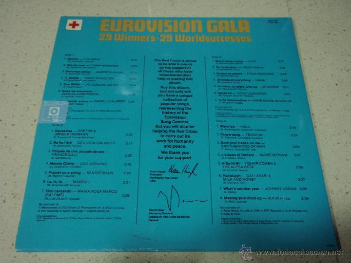 Discos de vinilo: Various ?– Eurovision Gala - 29 Winners - 29 Worldsuccesses 2LPS NORWAY 1981 RED CROSS - Foto 2 - 42291827