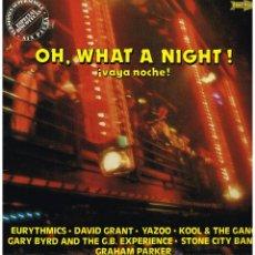 Discos de vinilo: OH, WHAT A NIGHT. VAYA NOCHE. VERSIONES SUPERSINGLE SIN PAUSA - LP 1983. Lote 42298207