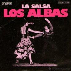 Discos de vinilo: LOS ALBAS - SINGLE PROMO 7'' - EDITADO EN ALEMANIA - LA SALSA + VAMOS A BAILAR - CRYSTAL 1977. Lote 42302209
