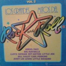 Discos de vinilo: MAGNIFICO LP DE LOS - LOS GRANDES - MITOS - DEL - ROCK - AND - ROLL -. Lote 42305258