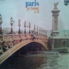 Discos de vinilo: MAGNIFICO LP DE -P A R I S - JE T´ AIME. VOL. 2 -. Lote 42305563