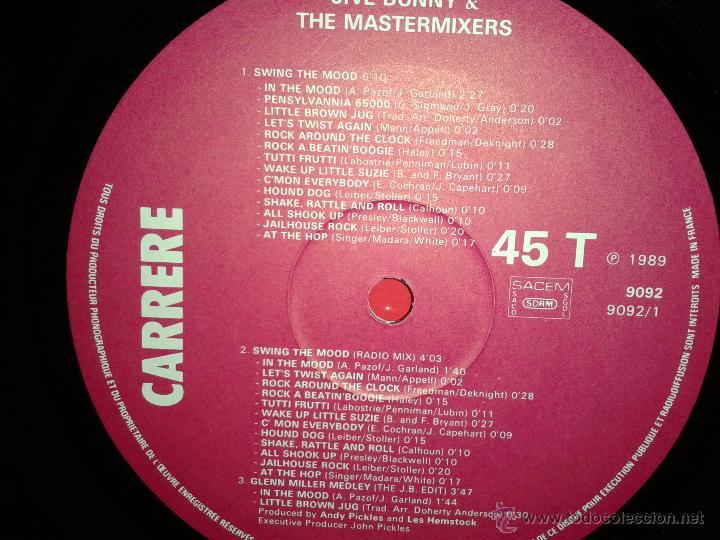 Discos de vinilo: MAGNIFICO - LP - LES - 2 HITS- DE - JIVE - BUNNY - - Foto 3 - 42305811