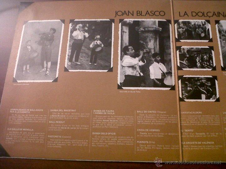 Discos de vinilo: LP JOAN BLASCO-LA DOLÇAINA-EDIGSA 1979-DANSA DEL MAESTRAT-CRIDA DE VESPRES-DANSA DE RIOLA-MOIXARANGA - Foto 2 - 42312766