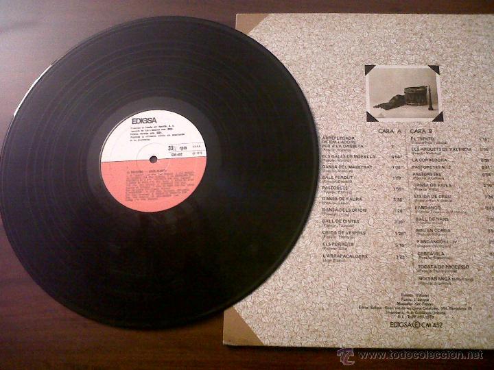 Discos de vinilo: LP JOAN BLASCO-LA DOLÇAINA-EDIGSA 1979-DANSA DEL MAESTRAT-CRIDA DE VESPRES-DANSA DE RIOLA-MOIXARANGA - Foto 4 - 42312766