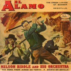 Disques de vinyle: NELSON RIDDLE AND HIS ORCHESTRA - FILM EL ALAMO, EP, THE GREEN LEAVES OF SUMMER + 3 , AÑO 1961. Lote 42314462