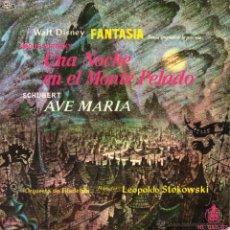 Discos de vinil: B.S.O. WALT DISNEY - FANTASIA, EP, UNA NOCHE EN EL MONTE PELADO + 2 , AÑO 1960. Lote 42320937
