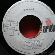 Discos de vinilo: SINGLE 45 RPM / BOHEMIA / CADA DIA AL DESPERTAR // FESTIVAL DE OTI 84 . Lote 42321110