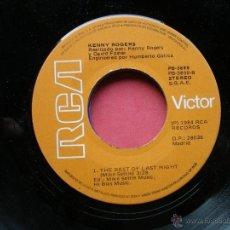 Discos de vinilo: KENNY ROGERS THE REST LAST NIGHT SINGLE PEPETO. Lote 42321729