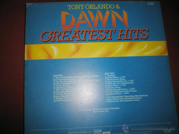 Discos de vinilo: =LP-VINILO-GRAN BRETAÑA-TONY ORLANDO & DAWN-GREATEST HITS-1970S-. - Foto 2 - 42328980