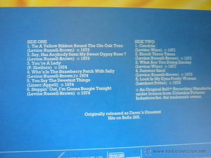 Discos de vinilo: =LP-VINILO-GRAN BRETAÑA-TONY ORLANDO & DAWN-GREATEST HITS-1970S-. - Foto 3 - 42328980