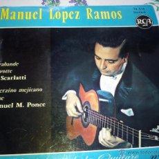 Discos de vinilo: DISCO DE MANUEL LOPEZ RAMOS .ANTHOLOGIE DE LA GUITARE. Lote 42336190