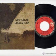 Disques de vinyle: NEW ORDER 45 RPM SHELLSHOCK A&M RECORDS EDICION ESPAÑOLA. Lote 42341360