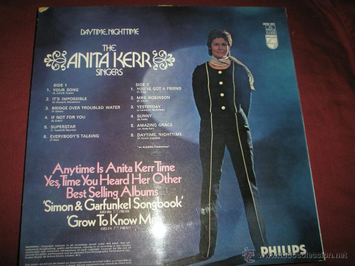 Discos de vinilo: =Aº LP-VINILO-GRAN BRETAÑA-ANITA KERR-DAYTIME,NIGHTIME-PHILIPS-1970.1.2-BUEN ESTADO. - Foto 2 - 42343478