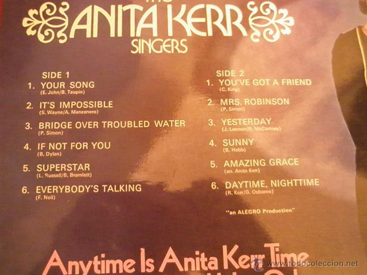 Discos de vinilo: =Aº LP-VINILO-GRAN BRETAÑA-ANITA KERR-DAYTIME,NIGHTIME-PHILIPS-1970.1.2-BUEN ESTADO. - Foto 3 - 42343478