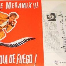 Discos de vinilo: GRAN BOLA DE FUEGO MAXI PROMO THE FIRE MEGAMIX!!! JERRY LEE LEWIS.RAREZA ESPAÑA 1990.IMPECABLE. Lote 42348435