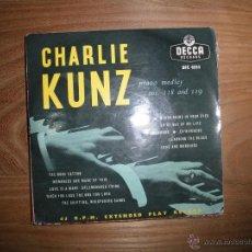 Discos de vinilo: CHARLIE KUNZ. PIANO MEDLEY. DECCA EDICION INGLESA. Lote 42353116