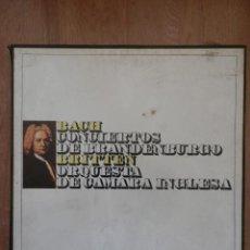 Discos de vinilo: CONCIERTOS DE BRANDENBURGO. JOHANN SEBASTIAN BACH - ORQUESTA DE CÁMARA INGLESA. BENJAMIN BRITTEN. Lote 42359799