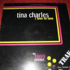 TINA CHARLES REMIX, 1999, MUY DIFICIL, I LOVE TO LOVE, 70´S, 80´S, DISCO MAXI