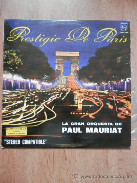 PRESTIGIO DE PARÍS - LA GRAN ORQUESTA DE PAUL MAURIAT (Música - Discos de Vinilo - EPs - Orquestas)
