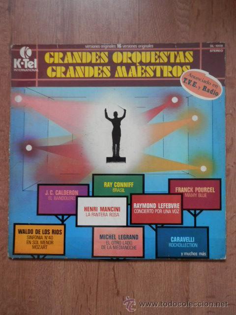 GRANDES ORQUESTAS. GRANDES MAESTROS. 16 VERSIONES ORIGINALES - DIVERSOS AUTORES (Música - Discos de Vinilo - EPs - Orquestas)