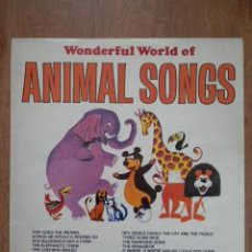 Discos de vinilo: WONDERFUL WORLD OF ANIMAL SONGS - HAPPY HOUSE. Lote 42368770