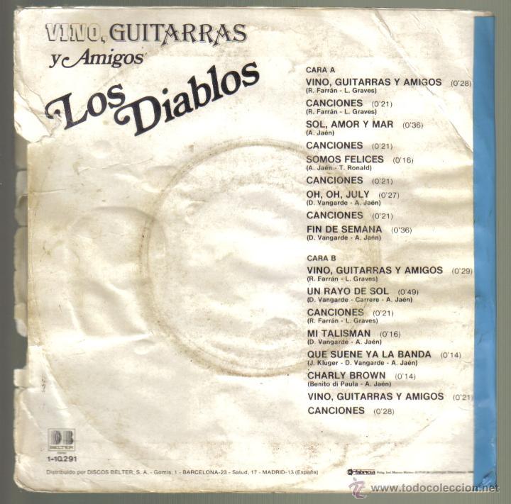 Discos de vinilo: LOS DIABLOS. VINO, GUITARRAS Y AMIGOS. BELTER . lITERACOMIC. - Foto 2 - 42369279