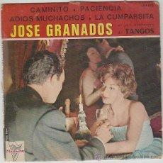 Discos de vinilo: JOSÉ GRANADOS: CAMINITO / PACIENCIA / ADIOS MUCHACHOS / LA CUMPARSITA. TRAINON SIN FECHA, AÑOS 50. Lote 42373253