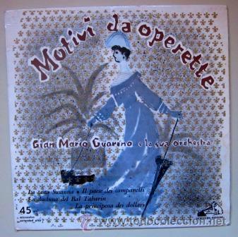 MOTIVI DA OPERETTE - LA CASTA SUSANNA - LA VOCE DEL PADRONE - ITALIA (Música - Discos de Vinilo - EPs - Clásica, Ópera, Zarzuela y Marchas)