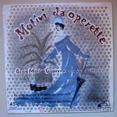 Discos de vinilo: MOTIVI DA OPERETTE - LA CASTA SUSANNA - LA VOCE DEL PADRONE - ITALIA. Lote 42374878