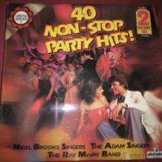 Discos de vinilo: AºS LPS-VINILO-(2)-40 NON STOP PARTY HITS-1979-PICKWICK-. Lote 42375814