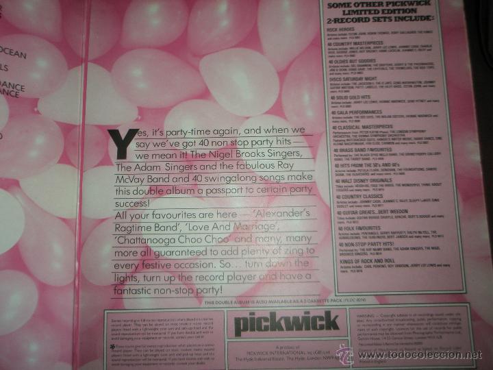 Discos de vinilo: AºS LPS-VINILO-(2)-40 NON STOP PARTY HITS-1979-PICKWICK- - Foto 7 - 42375814