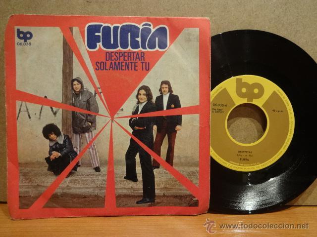 FURIA ( EX GATOS NEGROS ) DESPERTAR. SINGLE / BP - 1972. VINILO DE BUENA CALIDAD. ***/*** (Música - Discos - Singles Vinilo - Grupos Españoles de los 70 y 80)