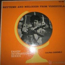 Discos de vinilo: LP-VINILO-GRAN BRETAÑA-RHYTHMS AND MELODIES FROM VENEZUELA-1966-GALIPAN ENSEMBLE-BUEN ESTADO.. Lote 42393659