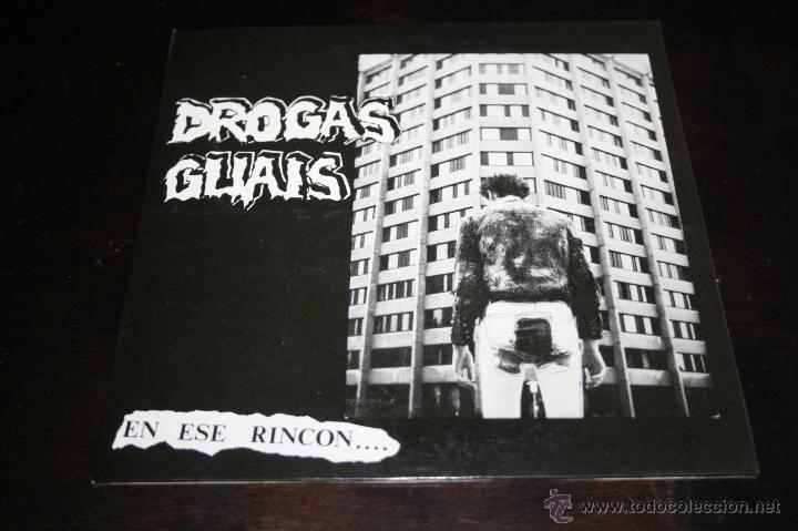 EP DROGAS GUAIS EN ESE RINCON 1991 TRALLA RECORDS (Música - Discos de Vinilo - EPs - Punk - Hard Core)