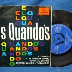 Discos de vinilo: - LOS QUANDÓS - EL QUANDO + 3 - COLUMBIA 1965. Lote 42393909