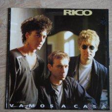 Discos de vinilo: RICO, VAMOS A CASA,POLYDOR, 1991, EX NACHA POP, 1º LP , SPAIN. Lote 42408119