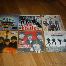 Discos de vinilo: LOTE 6 DISCOS BEATLES BOYS DAY TRIPPER TWIST AND SHOUT STRAWBWRRY I FEEL FINE MAGICAL MYSTERY TOUR. Lote 42409256