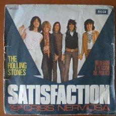 Discos de vinilo: THE ROLLING STONES, SATISFACTION Y 19ª CRISIS NERVIOSA, DECCA. Lote 42104074