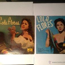 Discos de vinilo: LOTE 2 EP LOLA FLORES - 1960 Y ANTERIOR A 1958. Lote 42421761