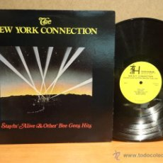 Discos de vinilo: THE NEW YORK CONNECTION. STAYIN' ALIVE AND OTHER BEE GEE'S DISCO HITS. LP-1979. MUY RARO USA.***/***. Lote 42422111