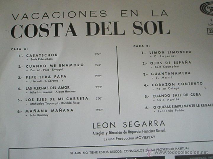 Discos de vinilo: LP-VINILO-ESPAÑA-VACACIONES EN LA COSTA DEL SOL-1969-12 TEMAS-MOVIE PLAY-. - Foto 2 - 42429301