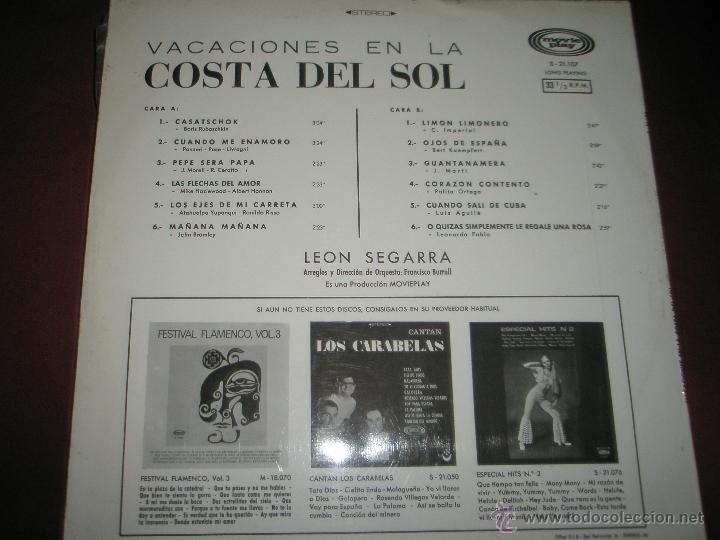 Discos de vinilo: LP-VINILO-ESPAÑA-VACACIONES EN LA COSTA DEL SOL-1969-12 TEMAS-MOVIE PLAY-. - Foto 3 - 42429301