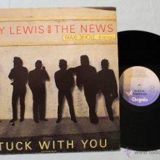 Discos de vinilo: HUEY LEWIS & THE NEWS STUCK WHINT YOU ATRAPADO POR TI MAXI 4 TEMAS VINLO 1986. Lote 42448546