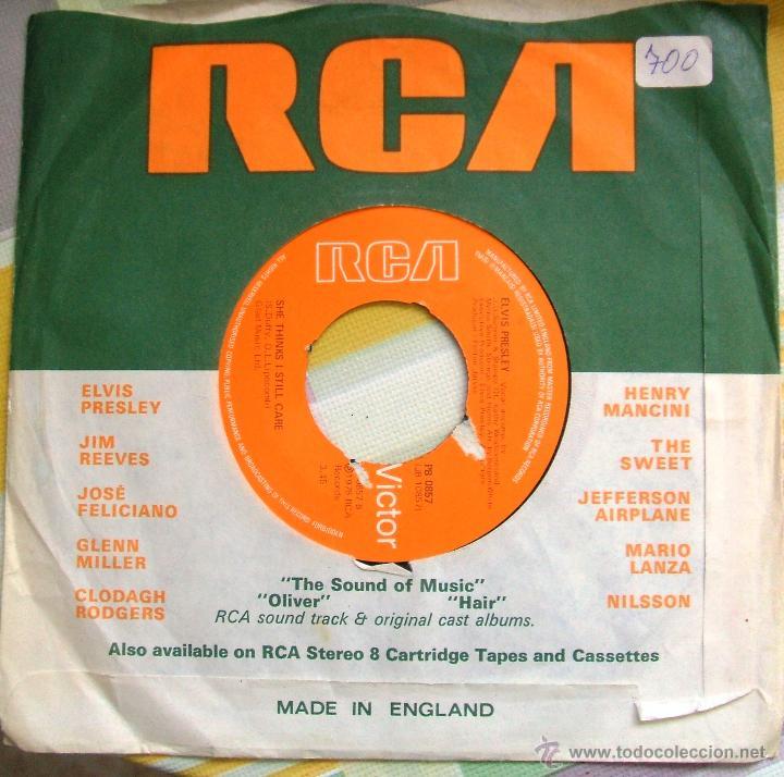 Discos de vinilo: ELVIS PRESLEY: Single MOODY BLUE / SHE THINKS I STILL CARE - UK, 1977 - Foto 5 - 42451367