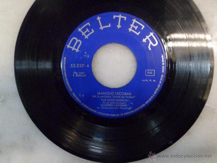 Discos de vinilo: MANOLO ESCOBAR. DE LA PELÍCULA JUICIO DE FALDAS. EP. BELTER - Foto 2 - 42451750