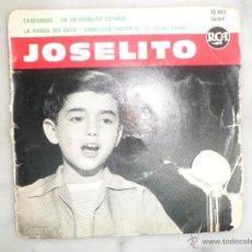 Discos de vinilo: JOSELITO. FANDANGOS. EN UN PUEBLITO ESPAÑOL. LA BANDA DEL CUCU. CABALLITO LUCERO. EP. RCA FRANCIA. Lote 42451959