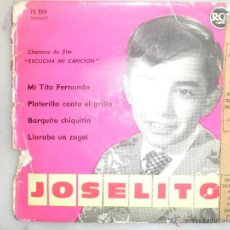 Discos de vinilo: JOSELITO. CHANSONS DU FILM ESCUCHA MI CANCION. EP RCA FRANCIA. Lote 42452674