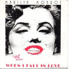 Discos de vinil: MARILYN MONROE, SG, WHEN I FALL IN LOVE + 1 , AÑO 1987. Lote 42456892